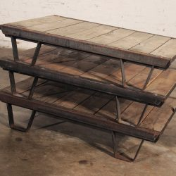 1930's Industrial Wooden Pallets Iron Rustic Frame