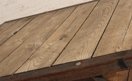 Industrial Wooden Pallets Rustic Iron Frame