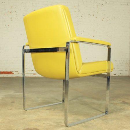 Vintage Mid-Century Modern Chromcraft-style Chrome Flat-Bar Chair