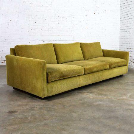 Lawson Style Wide Wale Corduroy Sofa by Milo Baughman for Thayer Coggin