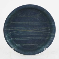 Vintage Studio Stoneware Pottery Plate with Geometric Design by Jack E. Wright