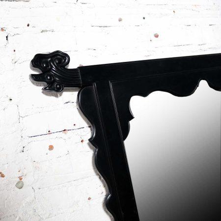 Vintage Chin Hua Ebonized Mirror by Raymond K. Sobota for Century Furniture