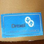 Pair of Drexel Swivel Barrel Shaped Club Chairs in Burnt Orange Velvet