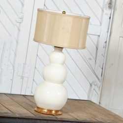 Christopher Spitzmiller Blanc De Chine Three Ball Large Ceramic Lamp