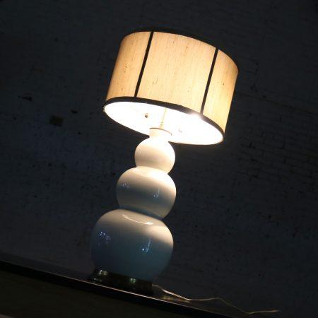 Christopher Spitzmiller Blanc De Chine Three Ball Large Ceramic Lamp