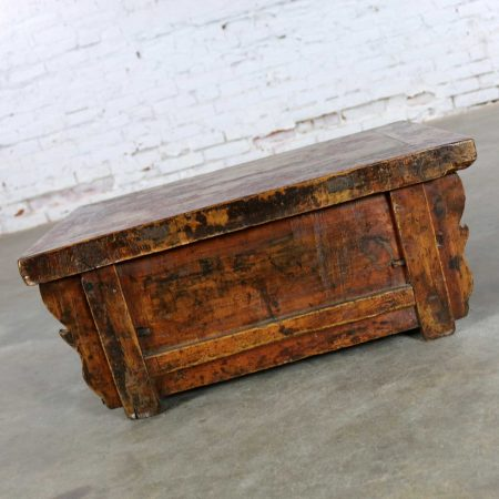 Antique Asian Low Tea or Altar Table with Drawer