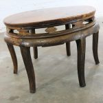 Antique Chinese Round Center Table Hand Carved Elm