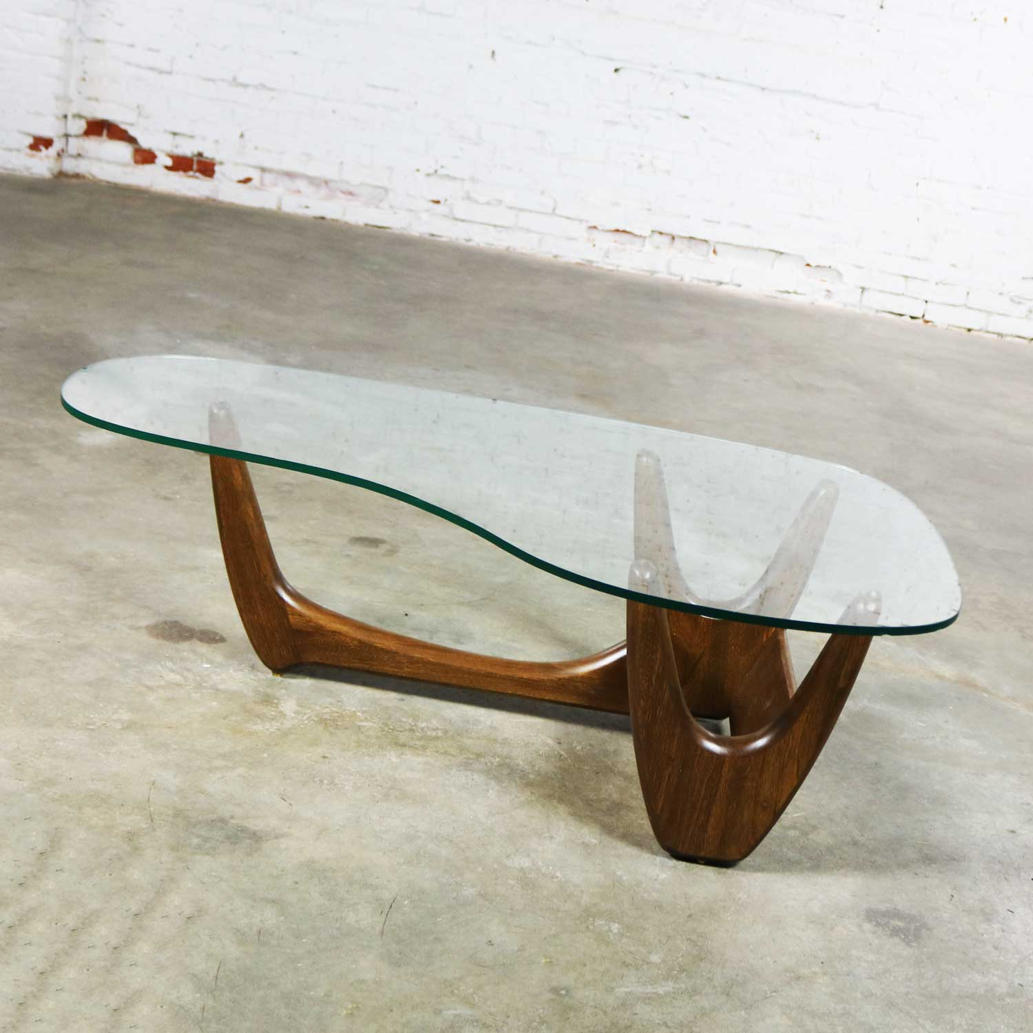 Mid Century Modern Biomorphic Coffee Table Attributed To Kroehler Or