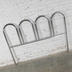 Chrome Tube Vintage Mid-Century Modern Four Arch Full-Size Headboard