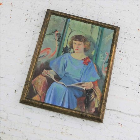 Large Signed Oil Portrait Titled Betsy by Barbara Hunter Watt 1936
