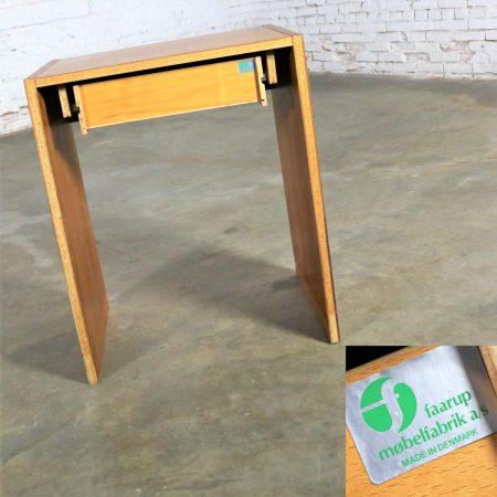 Scandinavian Modern Teak Single Drawer Nightstand or Tiny Desk by Faarup Mobelfabrik