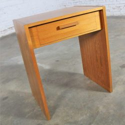 Scandinavian Modern Teak Single Drawer Nightstand or Tiny Desk by Faarup Mobelfabrik