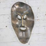 Solid Cast Bronze Contemporary Stylized Mask by Joe Sutcliffe
