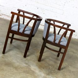Pair of Art Deco Bauhaus Style Bistro Side Arm Chairs by Loewenstein-Oggo