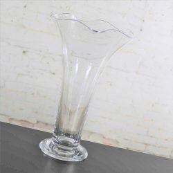 Orrefors Clear Chanterelle Vase by Anne Nilsson Retired 4758-24