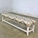 Long Upholstered Bench Newly Restored and Recovered