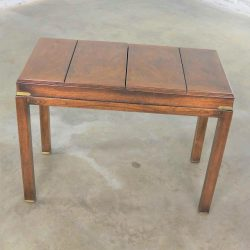 Campaign Style Backgammon Sofa Console Game Table by Lane Furniture