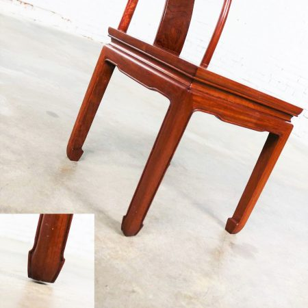 Asian Teak Hand Carved Side Chair in the Style of George Zee