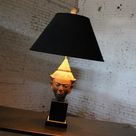 Hollywood Regency Vintage Buddha Head Table Lamp by Paul Hanson