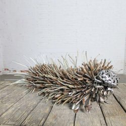 Caterpillar Sculpture or Garden Art of Reclaimed Metal by Jason Startup