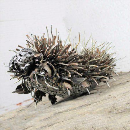 Caterpillar Sculpture or Garden Art of Reclaimed Metal by Jason Startup