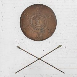 Silent Film Movie Prop Shield and Spears Wall Décor