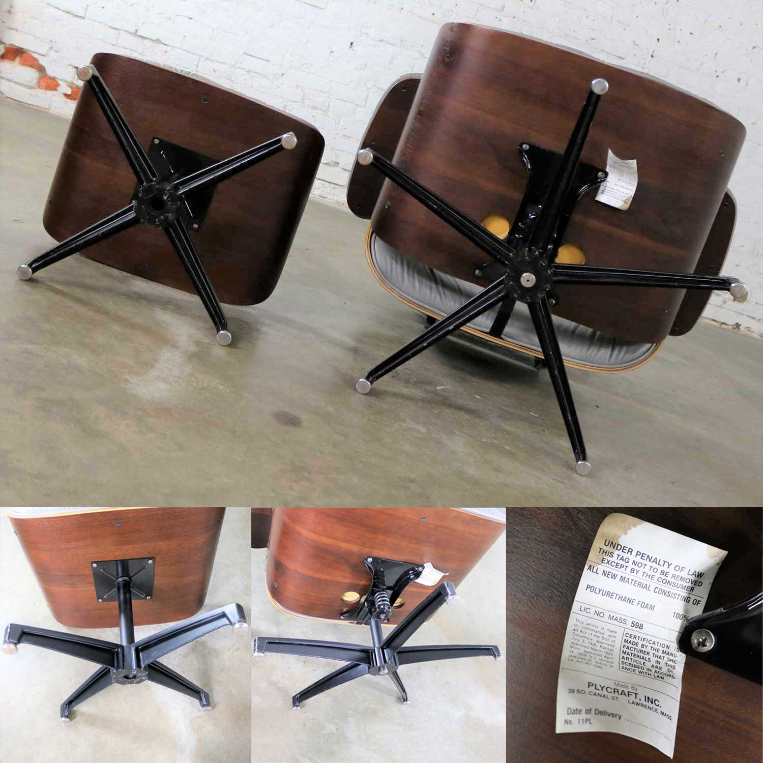 Amazing Mid Century Modern Plycraft Lounge Chair And Ottoman In Gray Ibusinesslaw Wood Chair Design Ideas Ibusinesslaworg