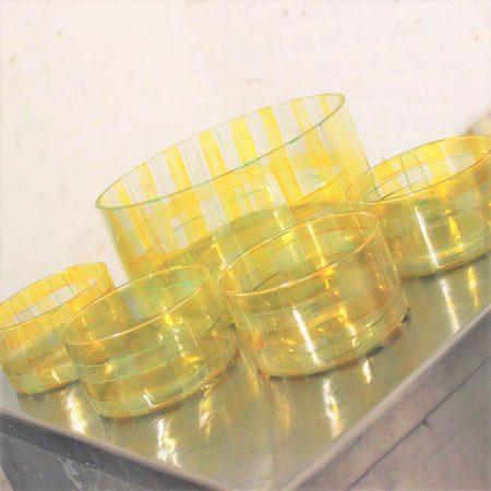Vintage Salad Bowl or Popcorn Set Signed Katya '98