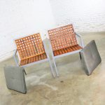 Pair of Aluminum and Teak Archetype Patio Chairs by Michael Vanderbyl for McGuire