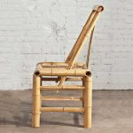 RPL-Real Bamboo Asian Dining Chairs Set of 4