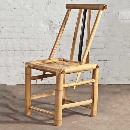 Real Bamboo Asian Dining Chairs Set of 4