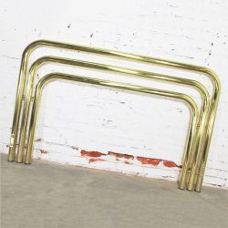 Bold and Brass Tubular Full-Queen Headboard 1970s Style of Karl Springer