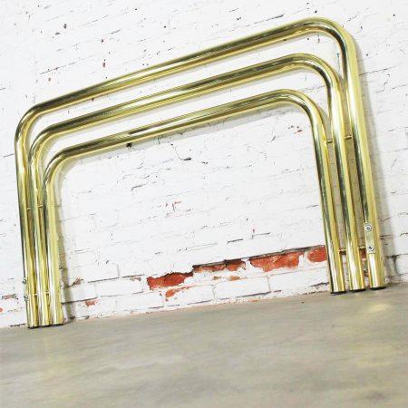 Bold and Brass Tubular Full-Queen Headboard 1970s Style of Karl Springer