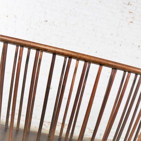 Larger Walnut Oval Magazine Rack Attributed to Arthur Umanoff for Washington Woodcraft