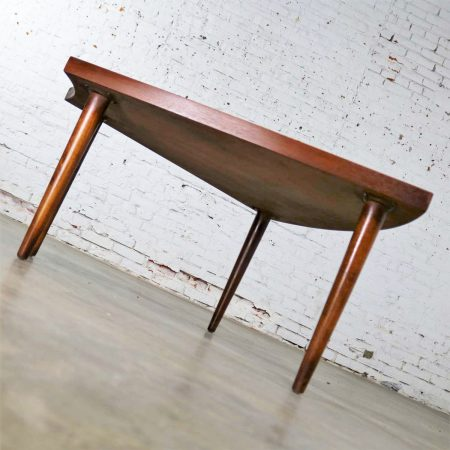 Walnut Wedge Shape End Table Attributed to Merton Gershun for American of Martinsville