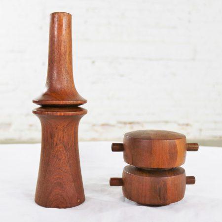Scandinavian Modern Teak Pepper Mills by Jens Quistgaard for Dansk Designs