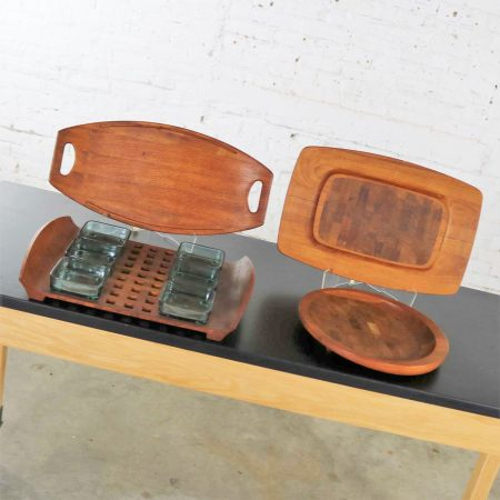 Selection of Dansk Designs Teak Trays or Cutting Boards by Jens Quistgaard