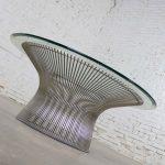 Warren Platner Nickel Steel Rod Coffee Table for Knoll Beveled Glass Top