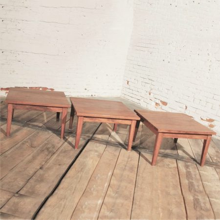Mid Century Modern Set of Three Stackable Rosewood Tables