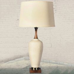 Mid-Century Modern Navis & Smith Co. Off-White Ceramic Table Lamp