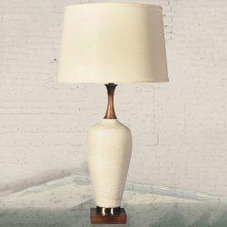 Mid-Century Modern Navis & Smith Co. Off-White Ceramic Table Lamp