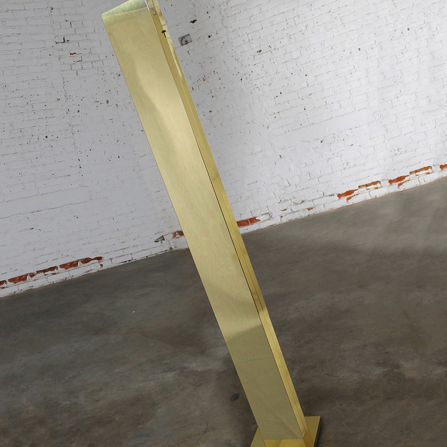Vintage Brass Plated Monolith Skyscraper Torchiere Floor Lamp By Casella Lighting Warehouse 414