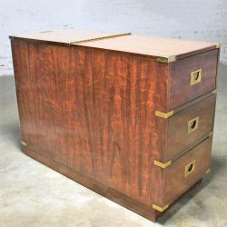 Campaign-Style-Chest-Type-Drexel-Dry-Bar-Vintage-Mid-Century