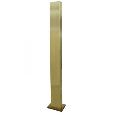 Vintage Brass Plated Monolith Skyscraper Torchiere Floor Lamp by Casella Lighting
