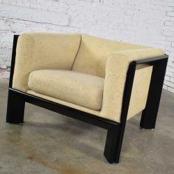 Modern Black & White Cube Club Lounge Chair Metropolitan Furniture Co. San Francisco