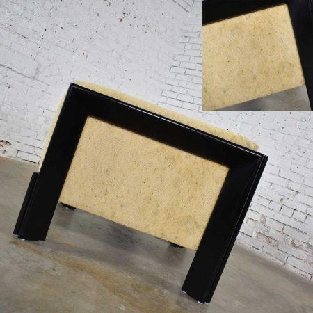 Modern Black & White Cube Club Lounge Chair Metropolitan Furniture Co. San Francisco