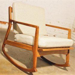 Danish Modern Teak Rocking Chair