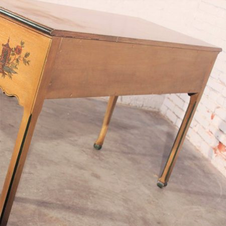 Antique Chinoiserie Hand Painted Hunt Style Buffet Server with Cabriole Legs