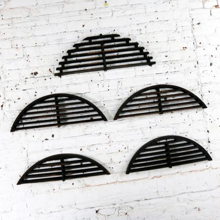 Antique Industrial Arched Foundry Patterns for Molds Handmade Wood – Group 3