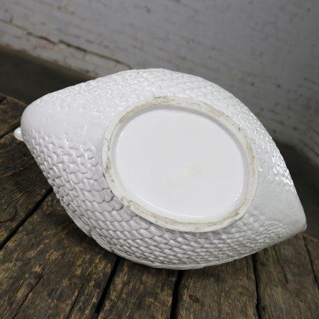 Large Pure White Porcelain Swan Jardinière Planter or Serving Tureen
